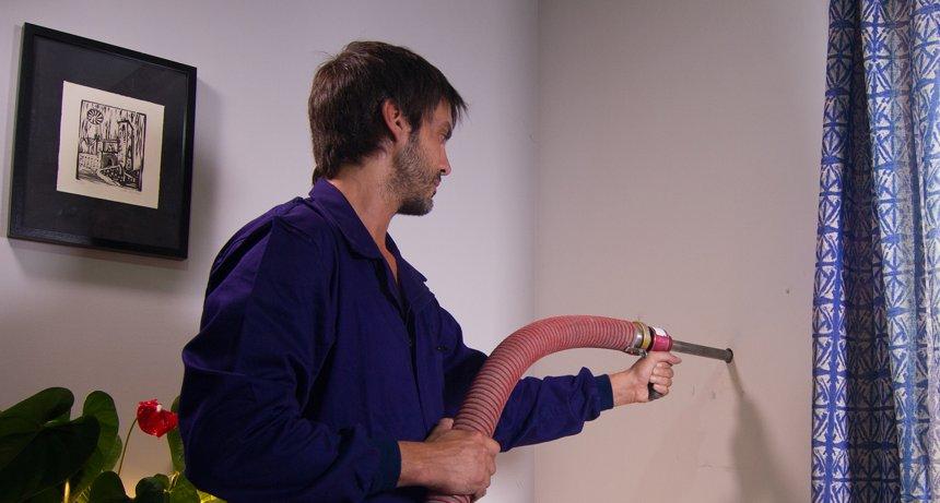 Aislamiento con la técnica de insuflado